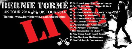 The Tour Dates - Go to http://www.bernietorme.co.uk/shows.html for ticket links