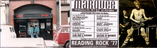 The Marquee in Wardour Street, breeding ground for the underground