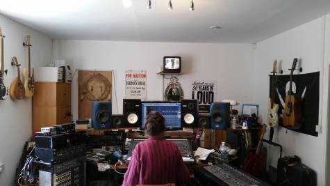 The man in charge - at Barnroom Studios in Kent